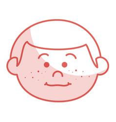 Cute little boy head character vector