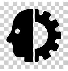 Cyborg head icon vector
