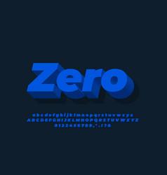 Dark blue 3d text effect or font effect design vector