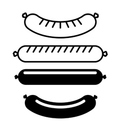 delicious sausage design vector image