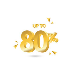 discount up to 80 template design vector image