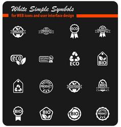 eco label icon set vector image