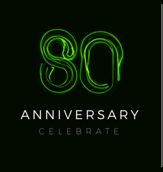 Eighty anniversary poster for party 80th years vector