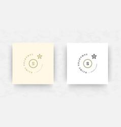 Elegant brand logo design template vector