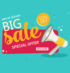 flat sale banner vector image
