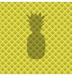 Fresh Ripe Pineapple Pattern vector
