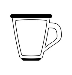 Glass cup with beverage icon image vector