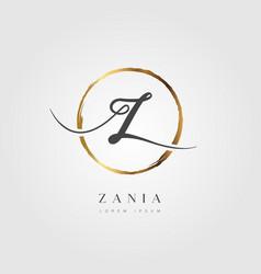 gold elegant initial letter type z vector image
