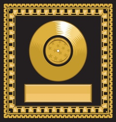 Golden record award vector