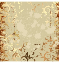 grunge pattern gold vector image