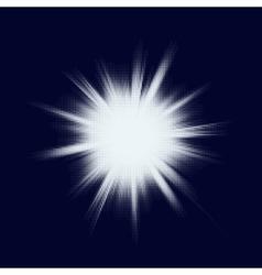 Halftone blast burst EPS 10 vector image
