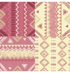 hand drawn geometric patterns vector image