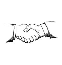 handshake business symbol vector image