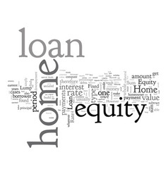 Home equity loan fixed rate or lump sum loan vector