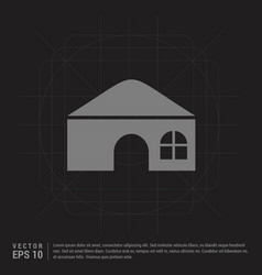 house icon - black creative background vector image
