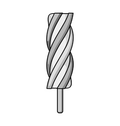 Ice lolly icon in monochrome style isolated on vector