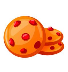 Icon cartoon cookies vector