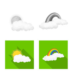 Isolated object of weather and climate logo set vector