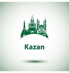 Kazan detailed silhouette Trendy vector image