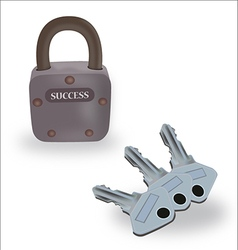 Keys of success vector image