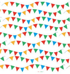Kids carnival seamless pattern with bunting vector