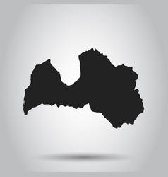 Latvia map black icon on white background vector