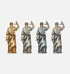 lawsuit judge symbol lady justice judgment vector image