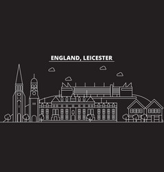 Leicester silhouette skyline great britain vector