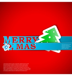 Merry Xmas strips card eps10 vector image