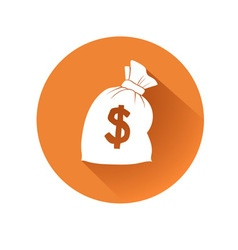 Money bag symbol vector
