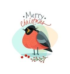 New Year Bullfinch vector image