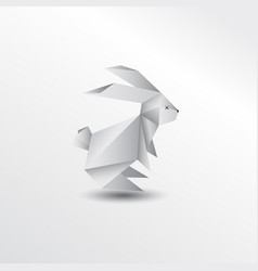 origami rabbit vector image