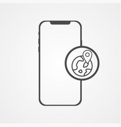 phone with location icon sign symbol vector image