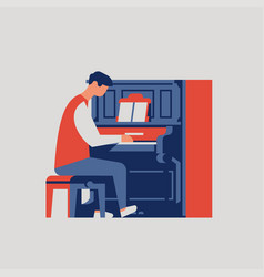 piano player concept vector image