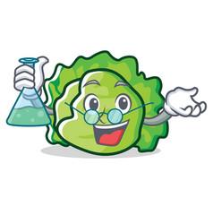 Professor lettuce character cartoon style vector
