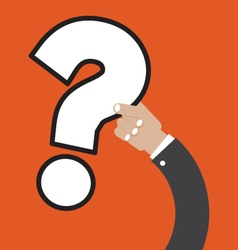 Question Mark In Hand vector