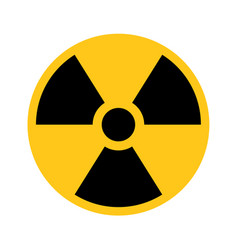 Radioactive material sign symbol of radiation vector