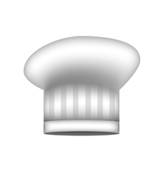 Realistic silhouette of chefs hat with stripeds vector