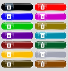Recycle bin Reuse or reduce icon sign Set from vector image