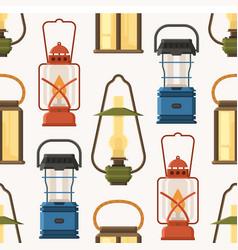 retro lantern or gas lamp pattern vector image