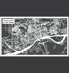 Rostov on don russia city map in retro style vector