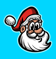 Santa claus face vector
