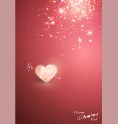 shiny heart soft beautiful background for vector image
