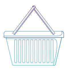 shopping basket icon in degraded purple to blue vector image