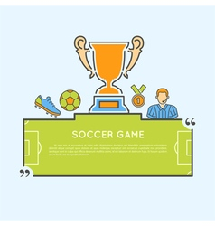 Soccer Game Concept vector image