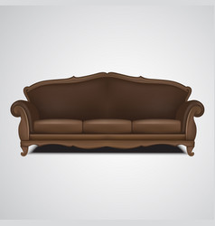 sofa antique furniture isolated vector image