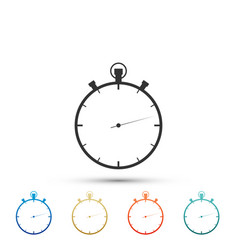 stopwatch icon isolated time timer sign vector image