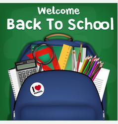 student backpack back to school sale promotion vector image