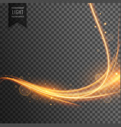 Transparent light effect trail with sparkles vector