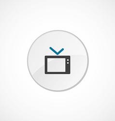 Tv icon 2 colored vector